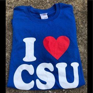 """I Love CSU!"" Columbus State Univ Tee SZ XL"